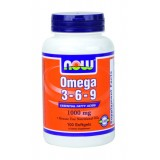 NOW Omega 3-6-9  1000 mg 100 дражета