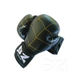 Боксови ръкавици естествена кожа черни с паяжина SZ