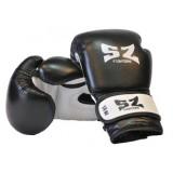Боксови ръкавици естествена кожа черно-бели SZ