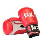 Боксови ръкавици изкуствена кожа SZ червено-бели