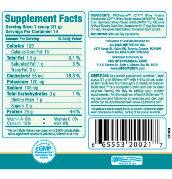 AllMax Isofemme protein smoothie 434 гр