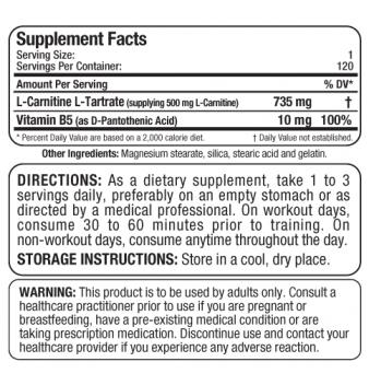 AllMax L-Carnitine 735 mg 120 капсули
