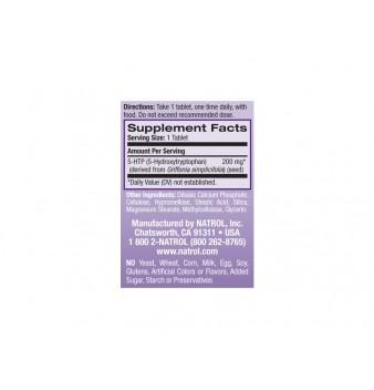Natrol 5-HTP Time Release  200 mg 30 таблетки