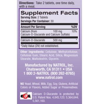 Natrol Calcium D-Glucarate 60 таблетки