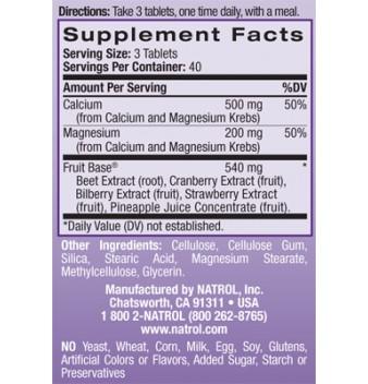 Natrol Calcium & Magnesium 120 таблетки