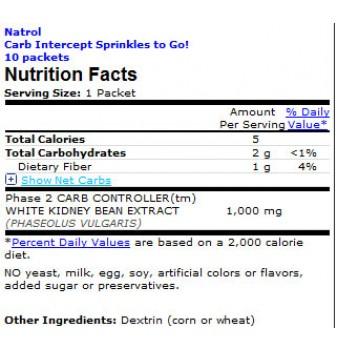 Natrol Carb Intercept Sprinkles to Go 10 пакета