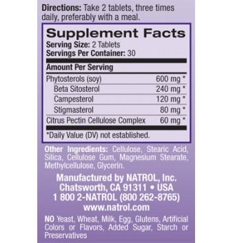 Natrol Cholesterol Balance 60 таблетки