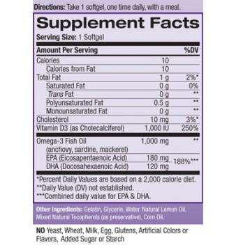 Natrol Fish Oil + Vitamin D3 90 дражета