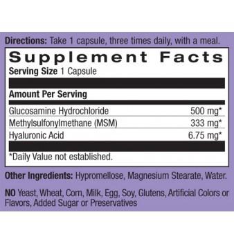 Natrol Hyaluronic Acid, MSM & Glucosamine 90 капсули