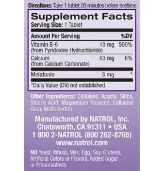 Natrol Melatonin 3 mg 120 таблетки