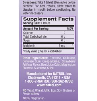 Natrol Melatonin Fast Dissolve 90 таблетки