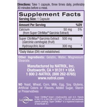 Natrol Pure CitriMax 90 капсули