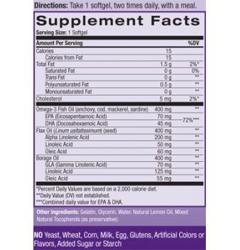 Natrol Omega 3-6-9 Complex 90 дражета