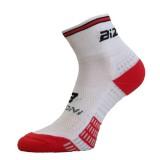 Чорапи за колоездене BIZIONI BS24 бяло-червени