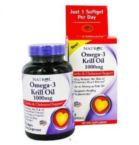 Natrol Omega-3 Krill Oil 1000 mg 30 дражета