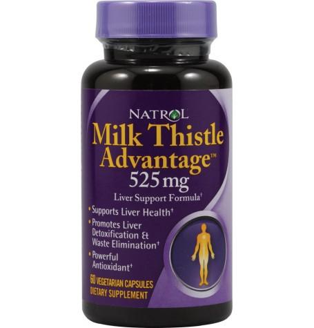 Natrol Milk Thistle Advantage 525 mg 60 капсули