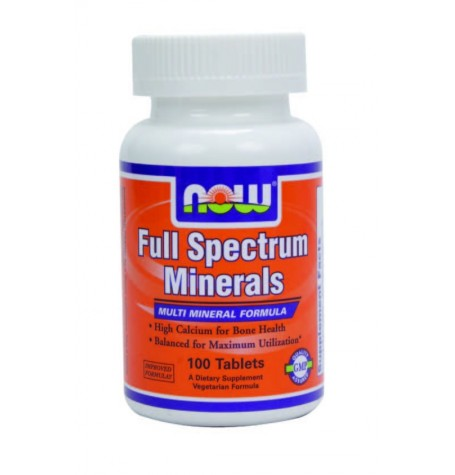 NOW Full Spectrum Minerals 100 таблетки