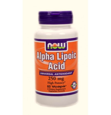 NOW Alpha Lipoic Acid 250 mg  60 капсули