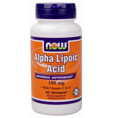 NOW Alpha Lipoic Acid 100 mg  60 капсули