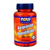 NOW Arginine/Ornithine 500/250 mg 100 капсули