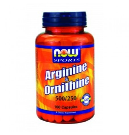 NOW Arginine/Ornithine 500/250 mg 100 капсули