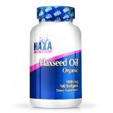 HAYA LABS Flax Seed Oil Organic 1000 mg. 100 гел-капсули