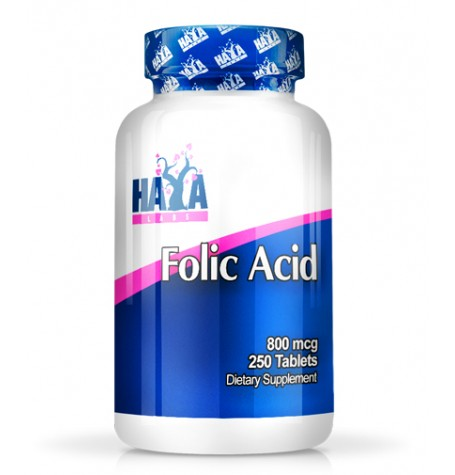 HAYA LABS Folic Acid 800 mcg.  250 таблетки