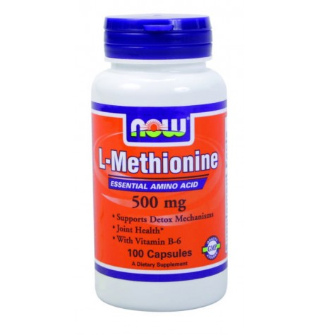NOW Methionine 500 mg 100 капсули