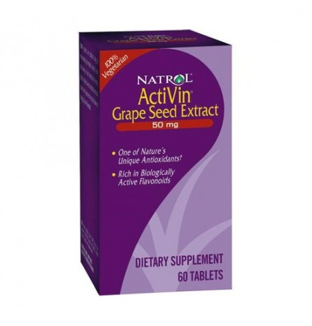 Natrol Activin Grape Seed Extract 60 таблетки