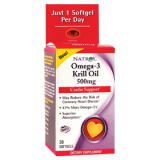 Natrol Omega-3 Krill Oil 500 mg 30 дражета
