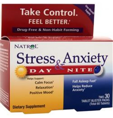 Natrol Stress & Anxiety 10 + 10 таблетки