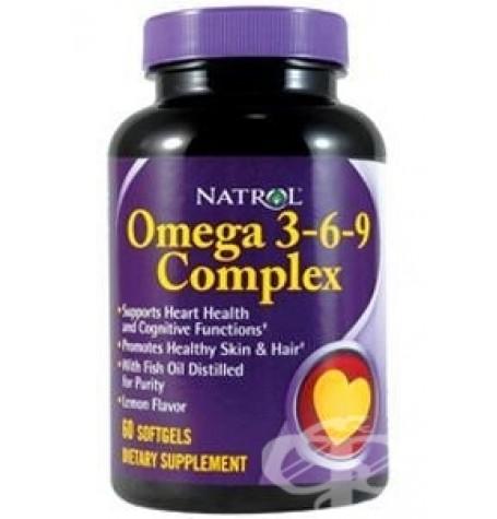 Natrol Omega 3-6-9 Complex 60 дражета