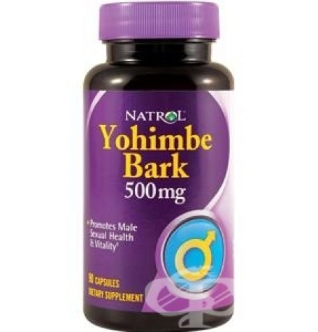 Natrol Yohimbe Bark 500 mg 90 капсули