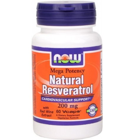 NOW Natural Resveratrol 60 капсули