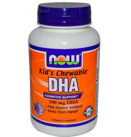 NOW DHA 100 мг Kid's Chewable 60 дражета