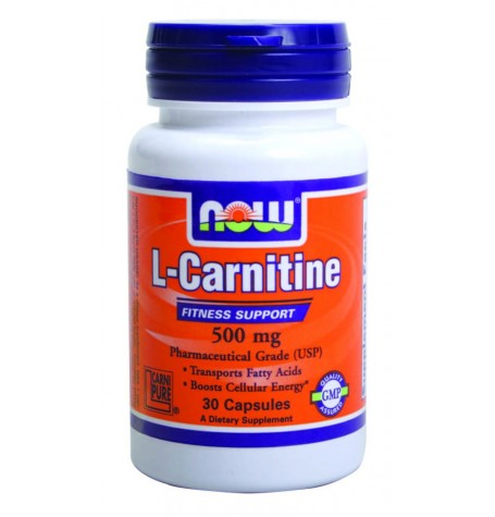 NOW L-Carnitine 500 mg 180 капсули