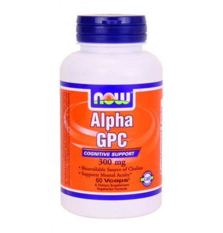 NOW Alpha GPC 300 mg 60 капсули