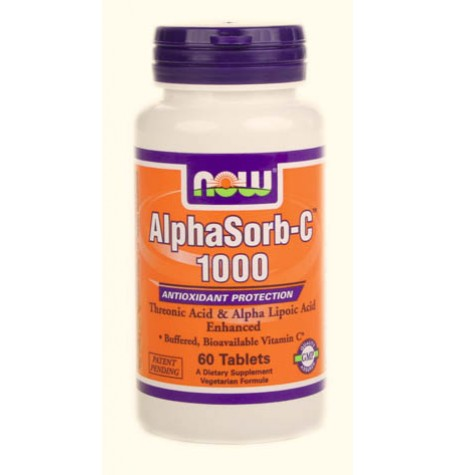 NOW AlphaSorb-C 1000 mg 60 таблетки