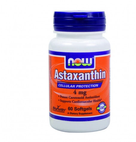 NOW Astaxanthin 4 mg  60 дражета