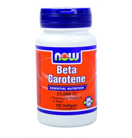 NOW Beta Carotene 25,000 IU 100 дражета