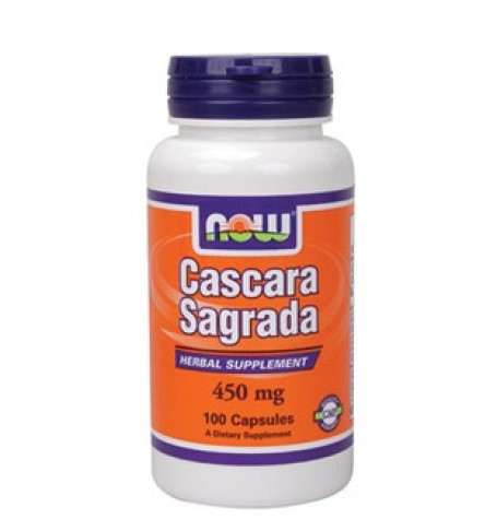 NOW Cascara Sagrada 450 mg 100 капсули