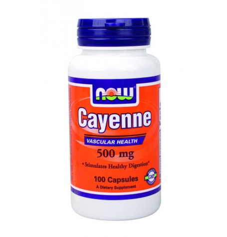 NOW Cayenne 500 mg 100 капсули