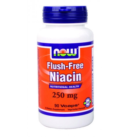 NOW Flush-Free Niacin 250 mg 90 капсули