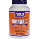 NOW Omega 3 (Рибено Масло) 200 дражета