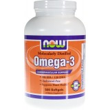 NOW Omega 3 (Рибено Масло) 500 дражета