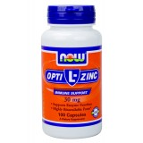 NOW L-OptiZinc 30 mg 100 капсули