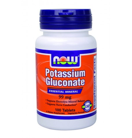 NOW Potassium Gluconate 99 mg 100 таблетки
