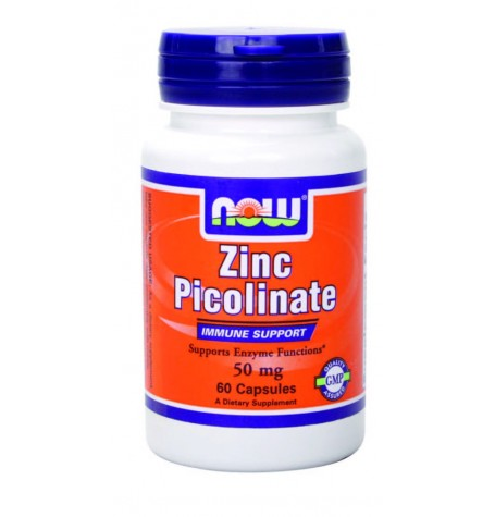 NOW Zinc Picolinate 50 mg 60 капсули