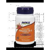 NOW Vitamin D-3 1000 IU 180 дъвчащи дражета