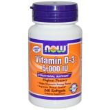 NOW Vitamin D 5000 IU 240 дражета